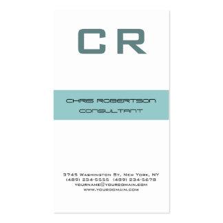 Monogram Grey Blue White Attractive Business Card