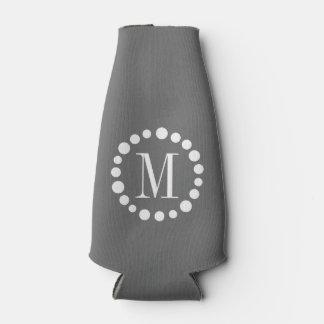 Monogram Grey Bottle Cooler