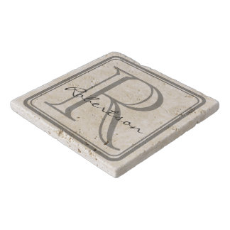 Monogram Grey Square Trivet