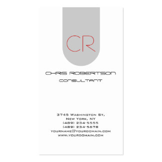 Monogram Grey White Attractive Business Card