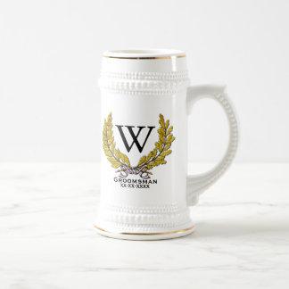 Monogram Groomsman-Best Man Beer Stein