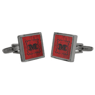 Monogram Gunmetal Finish Cufflinks
