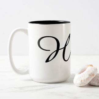 Monogram-H Two-Tone Coffee Mug