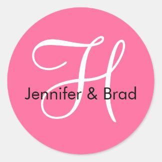 Monogram H Wedding Spring 2010 Pink Seal