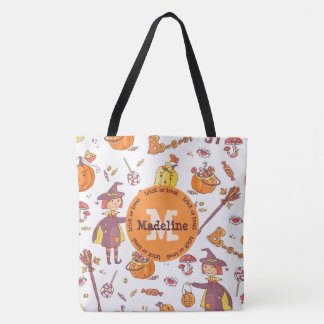 Monogram Halloween Trick or Treat Bag