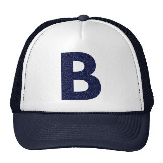 Monogram Hat, Capital B with Faux Glitter