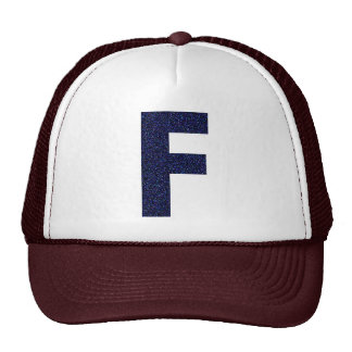 Monogram Hat, Capital F with Faux Glitter