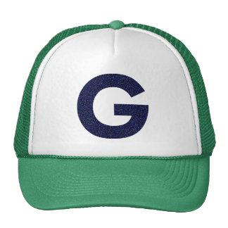 Monogram Hat, Capital G with Faux Glitter Cap