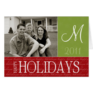 Monogram Holiday Photo Card