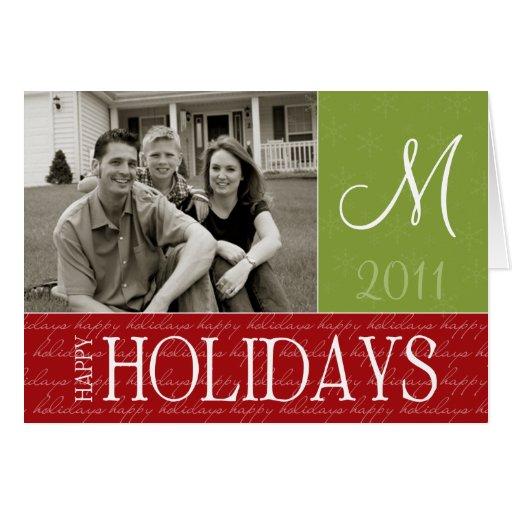 Monogram Holiday Photo Card