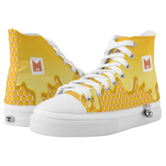 Monogram. Honeycomb with Honey Drip. High Tops