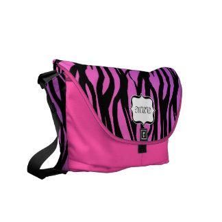 Monogram Hot Pink Purple Black Zebra Feminine Bag Courier Bag