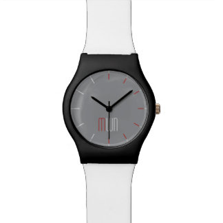 MONOGRAM HRS gray face | edit hour marks color Watch