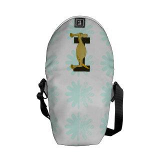 Monogram I Flexible Horse Personalised Messenger Bags