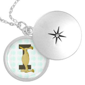 Monogram I Flexible Horse Personalised Round Locket Necklace