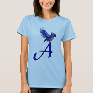 Monogram Initial A Bluebird Shirt