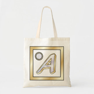 """Monogram Initial """"A"""" By BenJoy Tote Bag"""