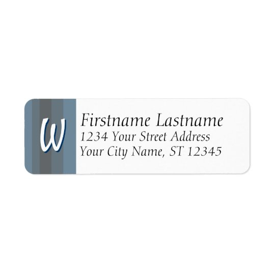 Monogram / Initial Address Labels