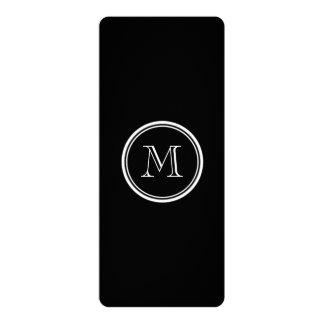 Monogram Initial Black High End Colored Custom Invite