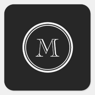Monogram Initial Black High End Colored Sticker