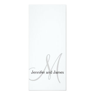 Monogram Initial Bride Groom Wedding Invitation