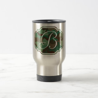 Monogram Initial - Customizable Camo Travel Mug