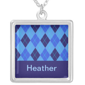 Monogram initial H personalised name necklace