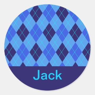 Monogram initial J personalised name stickers
