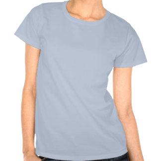 Monogram Initial M Elegant Bluebird T Shirt