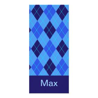 Monogram initial M personalised name bookmark Full Colour Rack Card