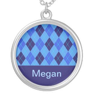 Monogram initial M personalised name necklace