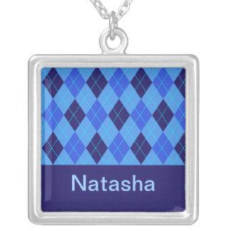 Monogram initial N personalised name necklace