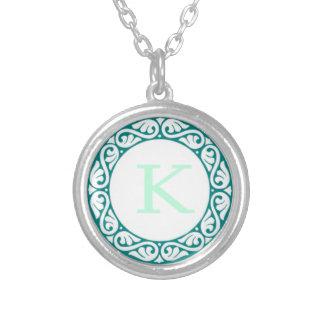 monogram initial necklace