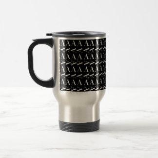 Monogram Initial Pattern, Letter A Travel Mug