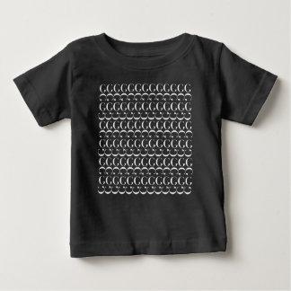 Monogram Initial Pattern, Letter G in White Baby T-Shirt