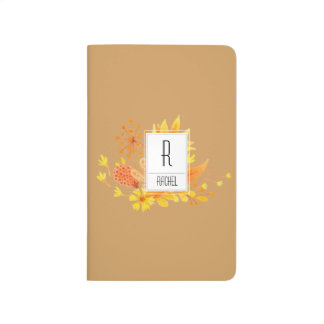 Monogram Initial Personalized Autumn Journal