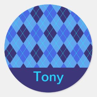 Monogram initial T personalised name stickers