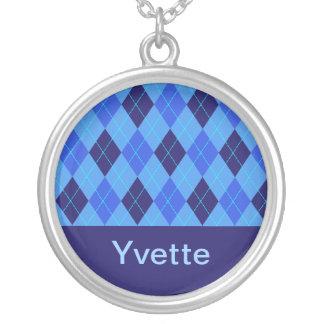 Monogram initial Y personalised name necklace
