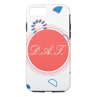 Monogram Initials Customize Geometry Peach Case