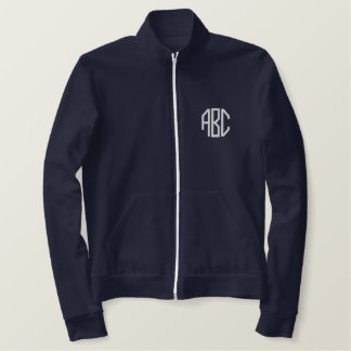 monogram initials embroidered jackets