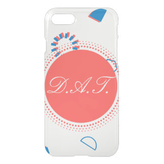 Monogram Initials Geometry Peach Case