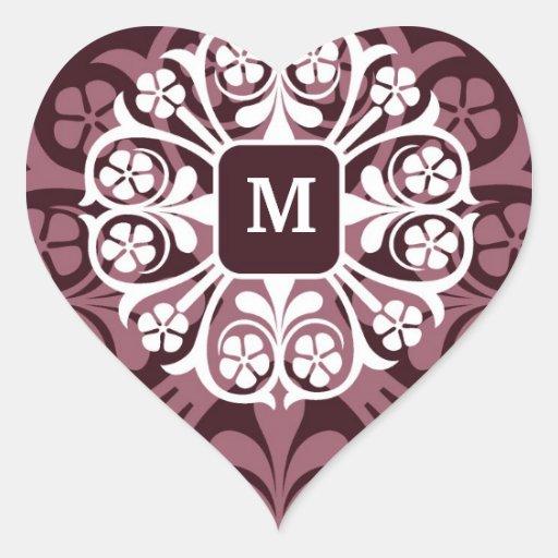 Monogram Initials  Heart Stickers