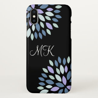 Monogram Initials Modern Design iPhone X Case