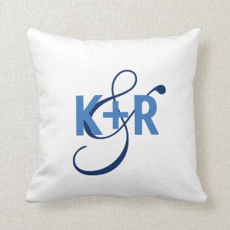 Monogram Initials Personalised Wedding Pillow2 Cushion