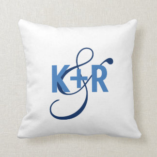 Monogram Initials Personalized Wedding Pillow2 Cushion