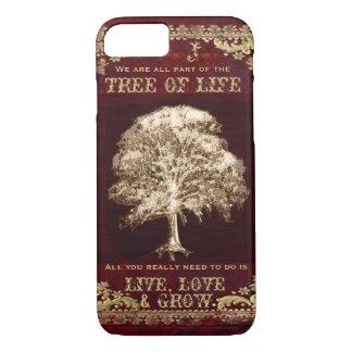 Monogram Inspirational Message Tree of Life iPhone 8/7 Case