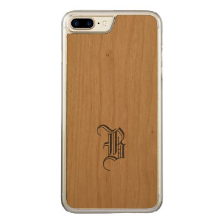 Monogram iPhone Slim Wood Carved iPhone 7 Plus Case