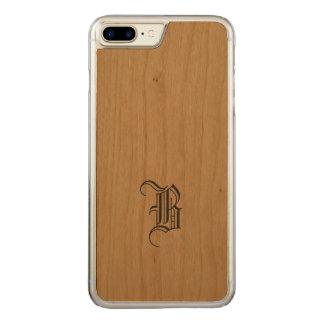 Monogram iPhone Slim Wood Carved iPhone 8 Plus/7 Plus Case