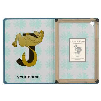 Monogram J Flexible Horse Personalised iPad Mini Retina Cover