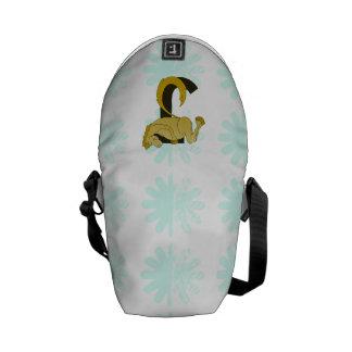 Monogram J Flexible Horse Personalised Courier Bags